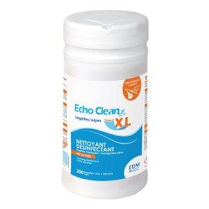 echo clean lingettes grand format désinfection des équipements d'imagerie médicale