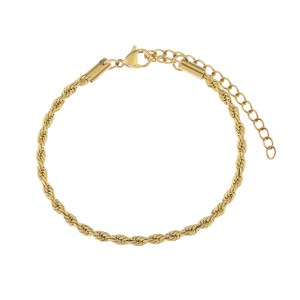 Bracelet twisted gold