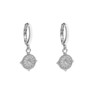 Earrings coin star silver
