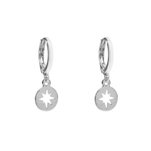 Earrings cut out star silver