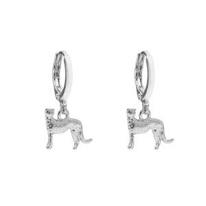 Earrings leopard silver