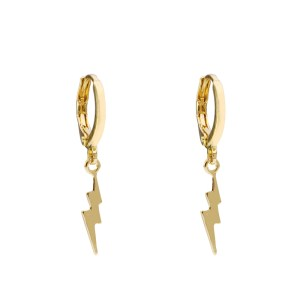 Earrings lightning gold
