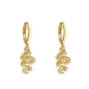 Earrings snake gold