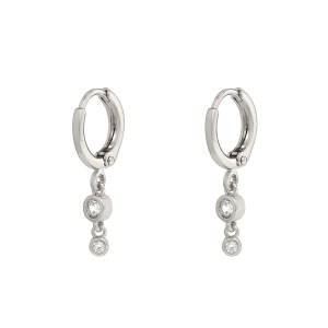 Earrings stones classy silver