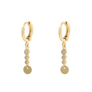 Earrings stones sparkle gold
