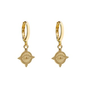 Earrings coin eye gold