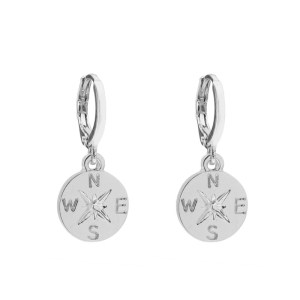Earrings compass silver