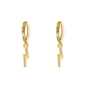 Earrings small lightning gold