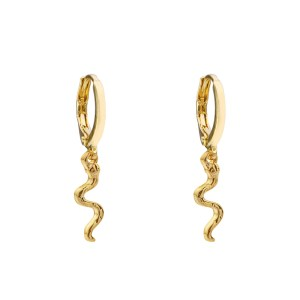Earrings small snake gold