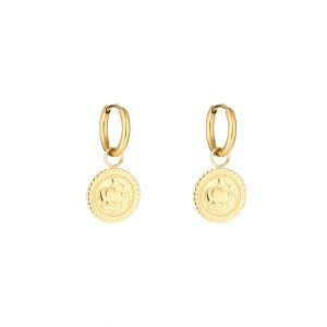 Earrings minimalistic rose gold