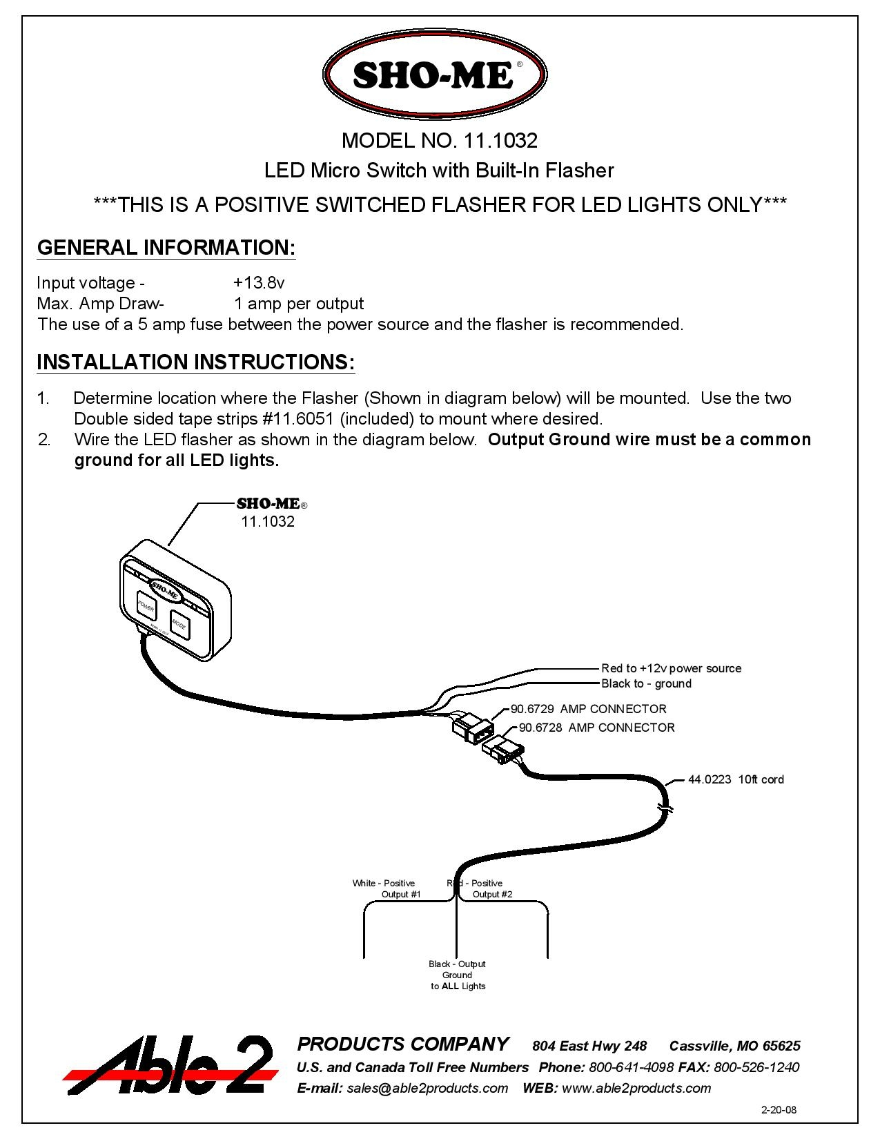 Sho Me 11.1032 instructions page 001 great common ground wiring diagrams contemporary electrical system