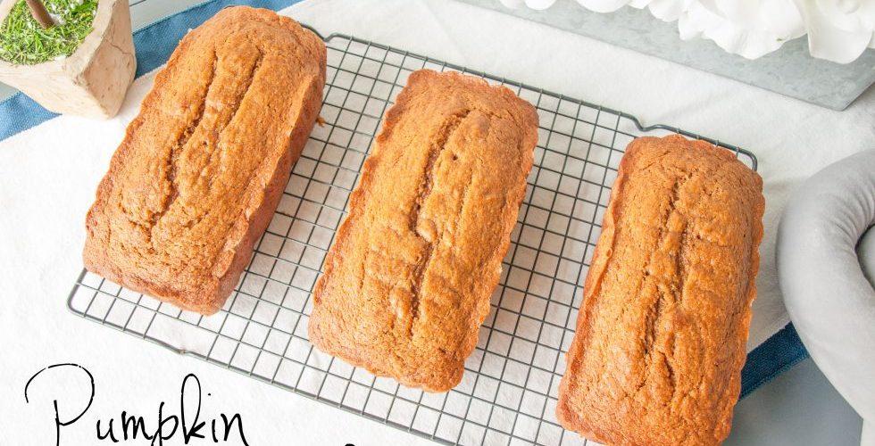 Pumpkin Bread. In June.