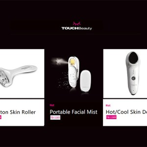 TouchBeauty Facial Care Photon Skin Roller, Portable Facial Mist, Hot/Cool Skin Device
