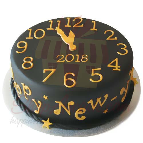 Send cakes new year cake 4lbs sachas Gift to Pakistan   Item   7608 New Year Cake 4lbs Sachas