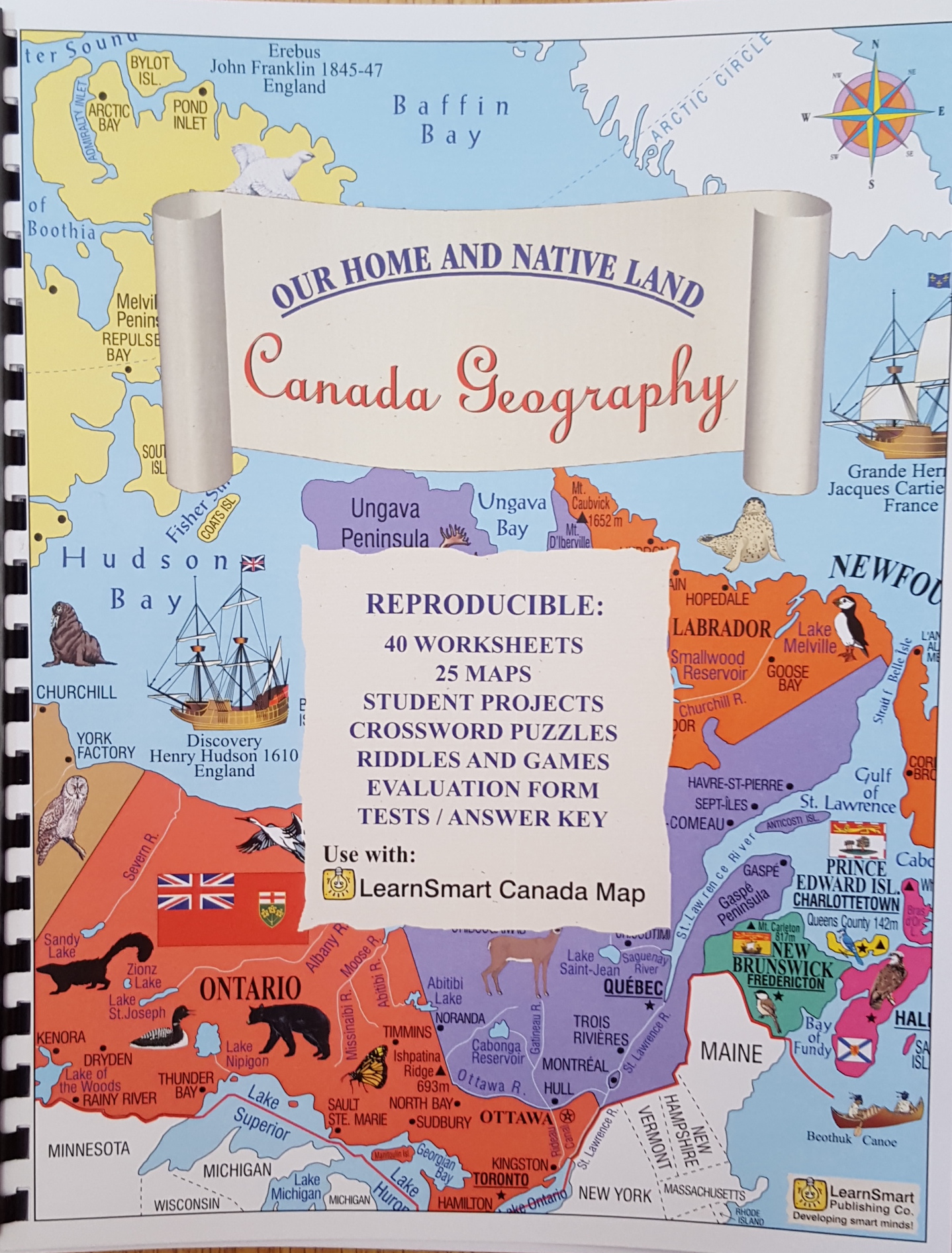 Canada Geography Workbook Shop At Smarts