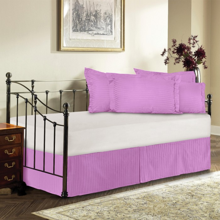 day bed 300tc sateen stripe tailored bed skirt