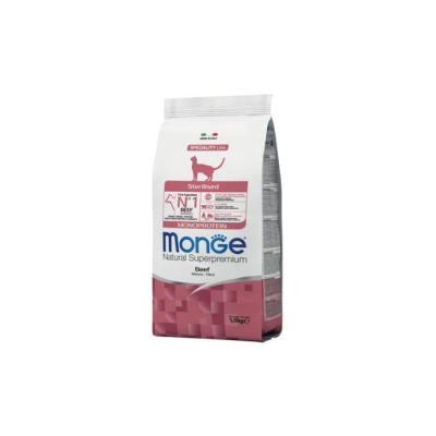 MONGE CAT NAT. MONOP. STERILISED MANZO KG.1,5