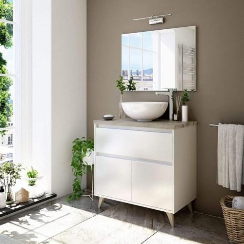 ONA - Mobile bagno 80cm per lavabo da appoggio - SPECCHIO e LAVABO NON INCLUSI