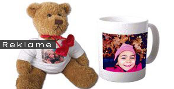Med fotografier i kalender, på krus eller bamse, kan du give en unik og personlig gave. Foto: Fotoinsight.dk