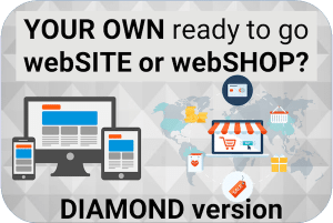 Website or Webshop – Ready to use including Hosting 12 months (Diamond)