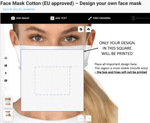 Face Mask Cotton (EU approved) – Design your own face mask