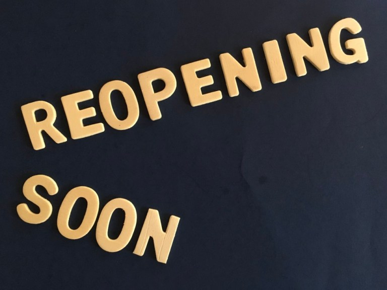 Reopening Soon Words On Wall Words In Wild Covid 19 Stores Closed Buying Online Restaurants Closed T20 P0GYld