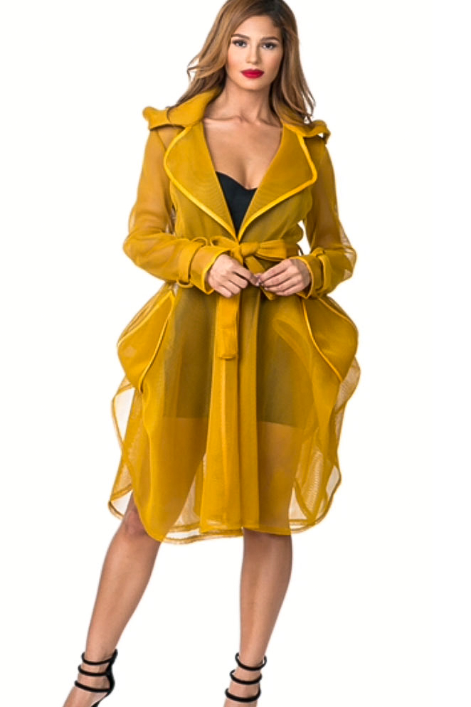 Yellow Organza Coat Dress Shop Claudia Myers Boutique