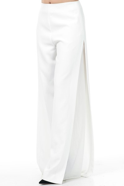 Ivory Shear Side Wide Leg Pants 3