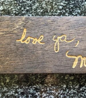 laser engraved handwriting sign