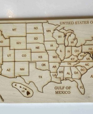 USA map learning puzzle