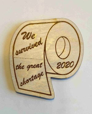 laser engraved wood magnets