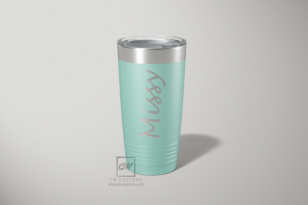 Personalized laser engraved tumbler