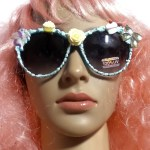 floral cottage core sunnies on face