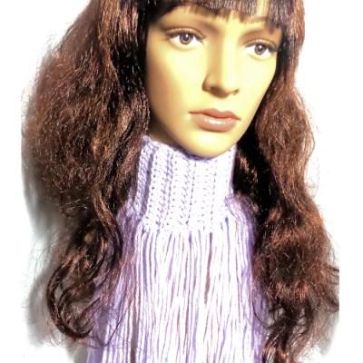 lavender fringe scarf