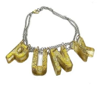 punk acrylic necklace