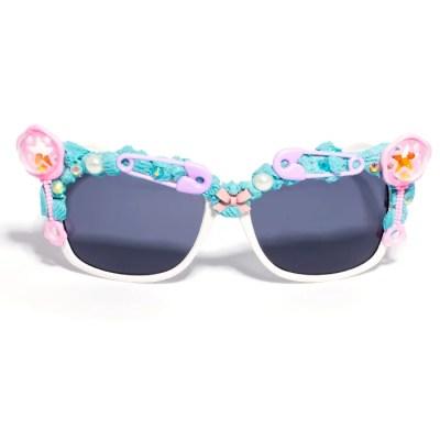 white frames baby theme sunglasses