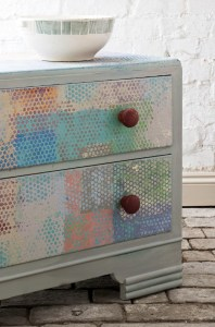 Annie Sloan Painted Chest inspired by Paul Klee