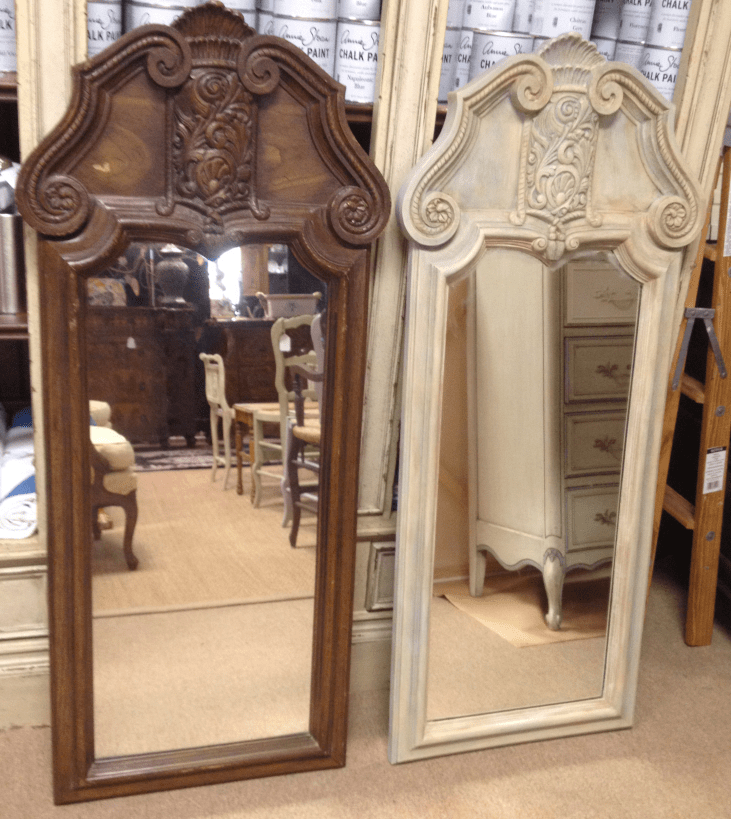 1970 Mirrors before and after