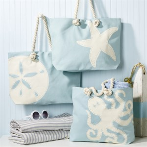 Adorable Summer Sea Life Beach Bags