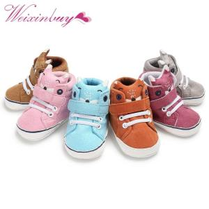 1 Pair Autumn Baby Shoes Kid Boy Girl Fox Head Lace Cotton Cloth First Walker Anti-slip Soft Sole Toddler Sneaker y13 - ShopeeBazar