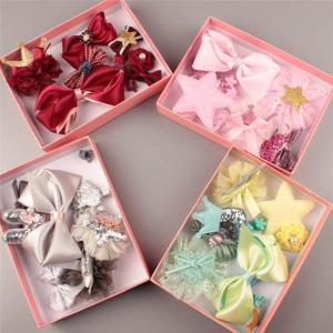 10 PCS Baby Headdress Set Girl Headband Baby Supplies Bow Knot Hairpin - ShopeeBazar