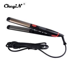 110-240V Ceramic Hair Straightening Iron Flat Iron LED Hair Tools Professional - ShopeeBazar