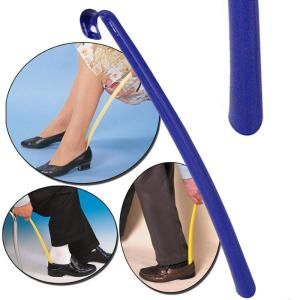 42cm Plastic Shoehorn No Bending Shoe Horn Fast & Easy Way To Put on Off Shoes For Child, Pregnant Women, Elder and Wounded - ShopeeBazar