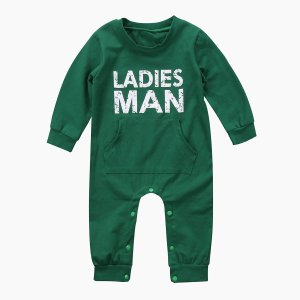 Autumn Winter  Baby Kid Boy Newborn Infant Thick Warm Romper Letter Printed Jumpsuit Clothes Outfit - ShopeeBazar