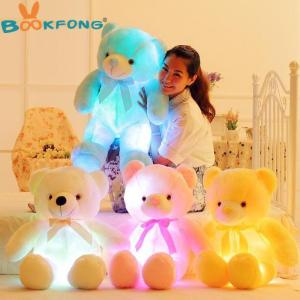 Creative Light Up LED Teddy Bear Stuffed Animals Glowing Teddy Bear - ShopeeBazar