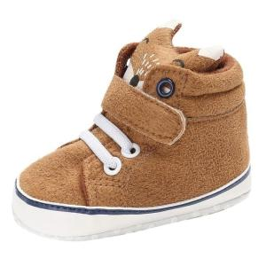 Baby Autumn Shoes Kid Boy Girl Fox Head Lace Cotton Cloth Anti-slip - ShopeeBazar