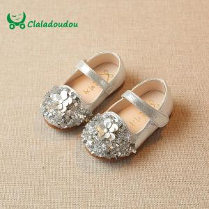 0-2Y Girls Shoes Gold  Flower Baby Walking Whoes Twinkle Sliver Toddler Shoes For Girls Princess Dress Shoes - ShopeeBazar