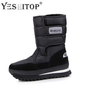 Female Snow Winter Boots flat waterproof - ShopeeBazar