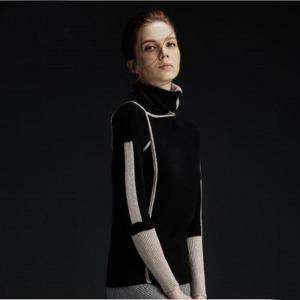 100%Cashmere Sweater Women Black Pullover Turtleneck Solid Natural Fabric High Quality Free Shipping