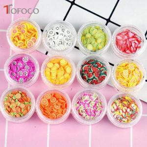 12 Type/Set Fruit Slices Filler For Nails Art Tips/Balls Slime For Kids - ShopeeBazar